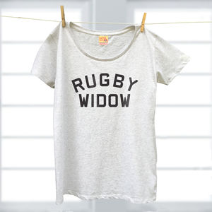 Sport Widow Range Of Ladies Organic T Shirts - tops & t-shirts