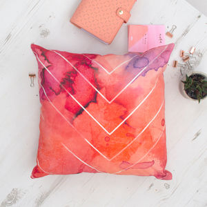 Bohemian Watercolour Chevron Pattern Cushion - brand new sellers