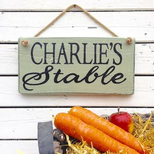Personalised 'Rustic' Style Wood Garden Sign