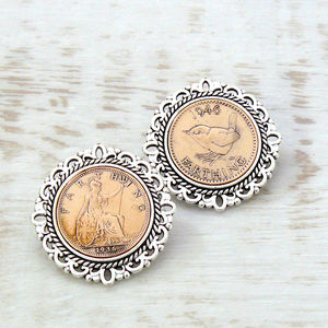 Birthday Farthing Brooch - birthday gifts