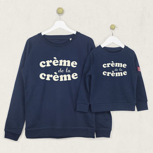 Crème De La Crème Sweatshirt Jumper Set - children's tops