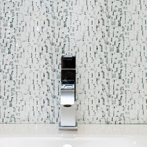 Mono Patterned Glass Splashback - bathroom