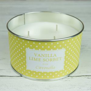 Vanilla Lime Sorbet Citronella Three Wick Candle