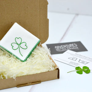 Lucky Shamrock Personalised Handkerchief - handkerchiefs