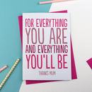 For Everything You Are Card