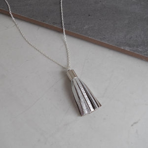 Minimalist Leather Tassel Pendant Necklace - necklaces & pendants