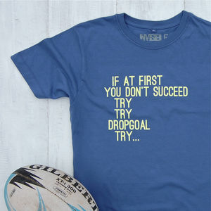 Rugby Try T Shirt - gifts for him
