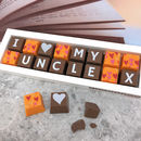 Personalised I Love My Uncle Chocolate Gift
