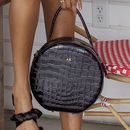 Personalised Croc Leather Round Bag