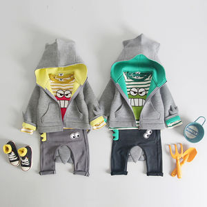 3D Neoprene Dinosaur Hoodie And Trousers Set - clothing