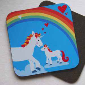 'Cute Coasters', 'Unicorn, Cat Or Flamingo Coasters' - tableware