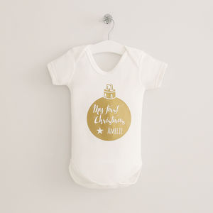 My 1st Christmas Bauble Bodysuit - baby's first christmas