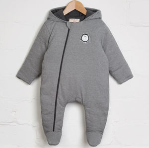 Stripe Penguin Snuggle Suit - coats & jackets
