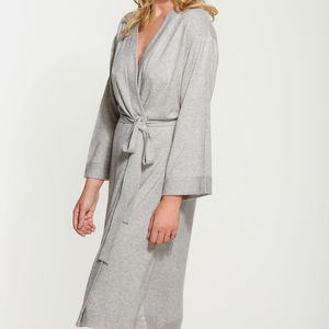 Luxe Knit Cashmere Silk Blend Robe - bathrobes & dressing gowns