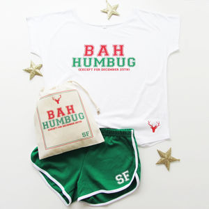 Bah Humbug, Ladies Christmas Pyjama And Loungewear Set - women's fashion