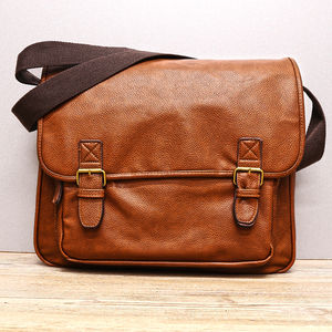 Personalised Vintage Tan Satchel - laptop bags & cases