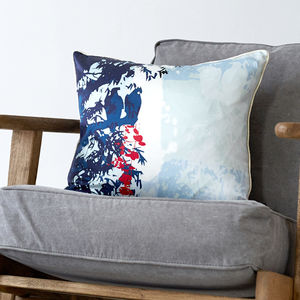 Tropical Birds Tonga Cushion - living room