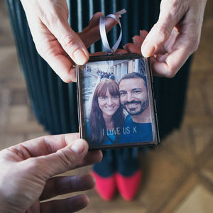 Personalised Mini Photo Frame - tree decorations