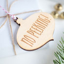 No Peeking! Bauble Gift Tag, 10pk