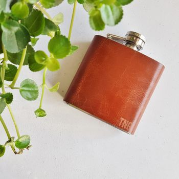 Personalised Hip Flask With Initials