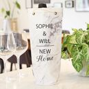 Personalised 'New Home' Marble Effect Bottle Bag