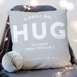 Personalised Hug 'From Me To You' Faux Suede Cushion - more