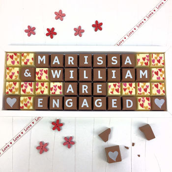 Personalised Engagement Chocolate Gift
