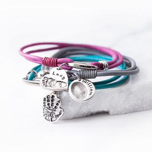 Personalised Leather Finger Hand Or Paw Print Bracelet - bracelets & bangles