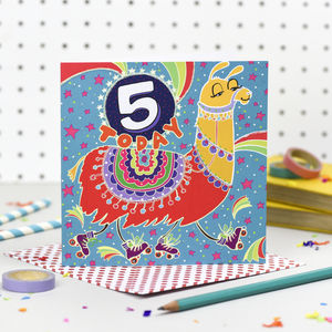 'Five Today' Birthday Card