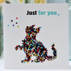 Just For You Butterfly Cat Card - summer sale