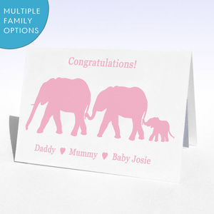 Personalised New Baby Boy Or New Baby Girl Card
