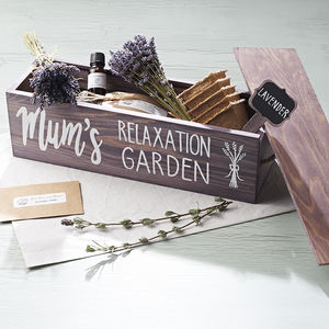 Personalised Lavender Garden Window Box - gardener