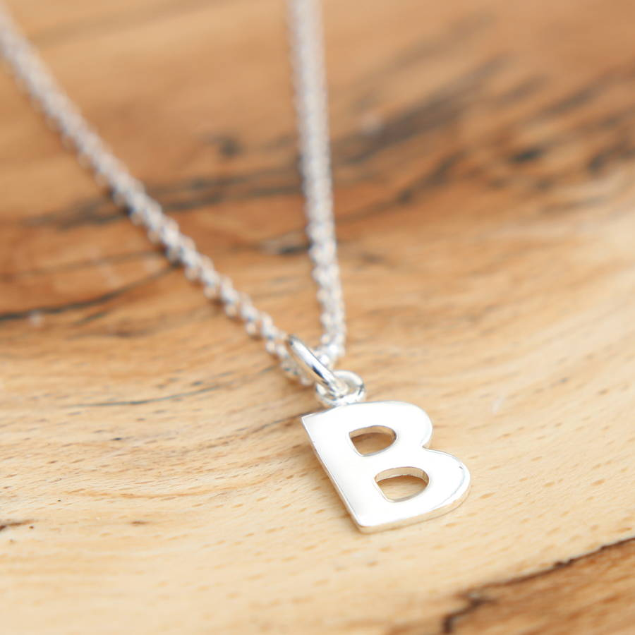 Sterling Silver Inital Necklace