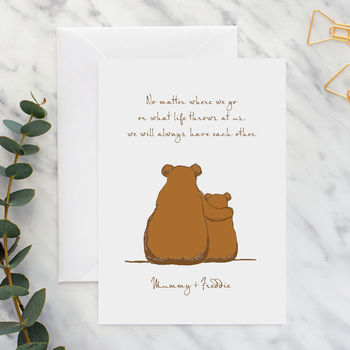 Bears 'No Matter What' Personalised Card
