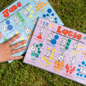 Personalised 'Learn Colours, Numbers and Shapes' Puzzle