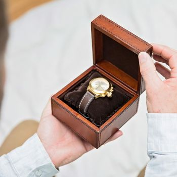 Personalised Leather Watch Box Single