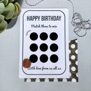 Birthday Scratchcard