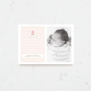 Baby Blossom Thank You Cards