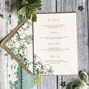 Geo Botanica Wedding Invitation