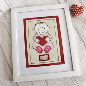 Girls Personalised Nursery Picture