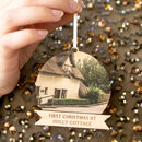 Personalised House Photo Christmas Bauble Decoration