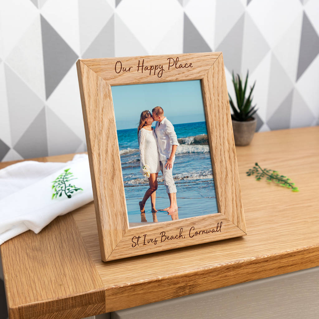 Personalised Our Happy Place Photo Frame