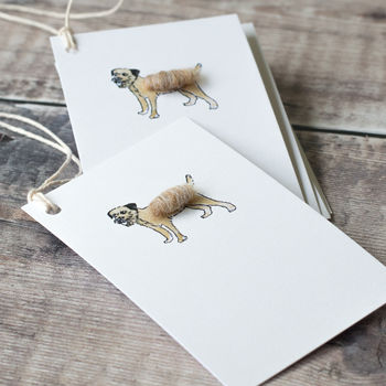 Gift Tags With Border Terrier Dog, Pack Of Six