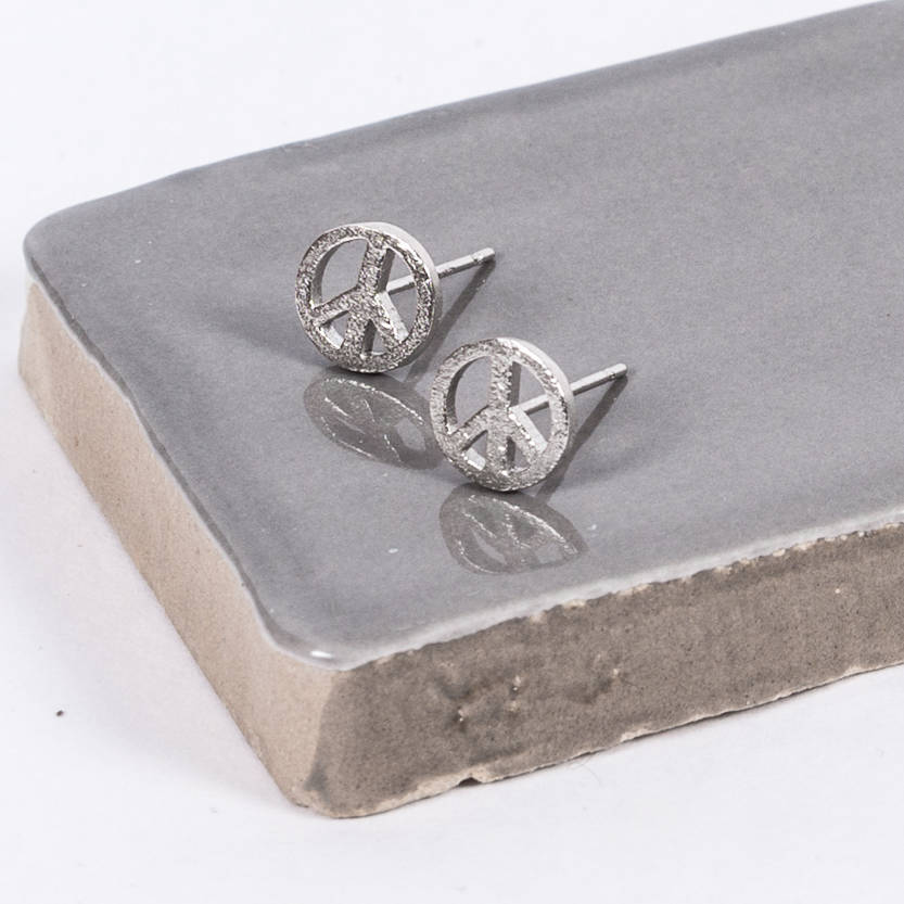 on earrings sterling summer stud sign tiny hot jewelry shop etsy bargains dainty peace silver