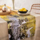 Yellow Ochre Pattern Table Runner 'Nomad Texture'