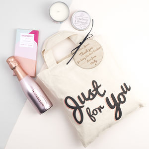 'Just For You' Personalised Prosecco Gift Bag - hampers