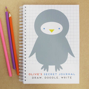 Personalised Kids Journal Penguin
