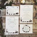 Elegance Safari Wedding Invitation Set