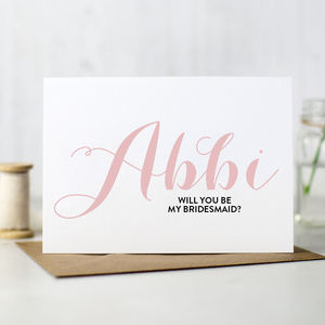 Personalised 'Will You Be My Bridesmaid' Card - wedding cards & wrap