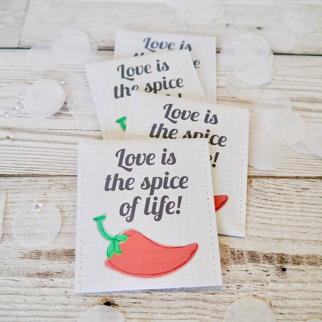 Love Is The Spice Of Life Chilli Seed Wedding Favour